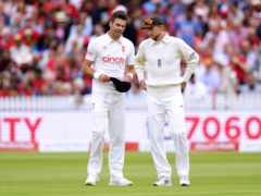 Joe Root (right) and James Anderson shone for England (Zac Goodwin/PA)