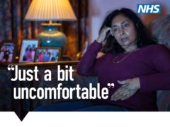 An NHS advert urging people to seek help for cancer symptoms from their GP (NHS/PA)
