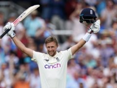 Joe Root's fifth century of the year led England's pursuit of India's first innings total (Zac Goodwin/PA)