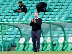 Celtic manager Ange Postecoglou applauded his players after their cup win (Steve Welsh/PA)