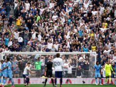 Tottenham Hotspur fans roared their side on to victory in the opening match of the season (Nick Potts/PA)
