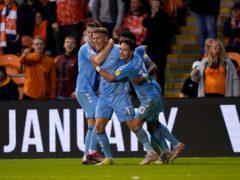 Viktor Gyokeres was on target for Coventry (Martin Rickett/PA)