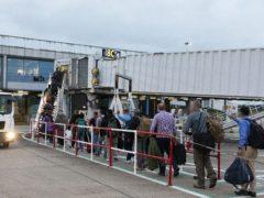 A charter flights carrying Afghan refugees arrives at a Midland's airport (SAC Samantha Holden RAF/MoD)