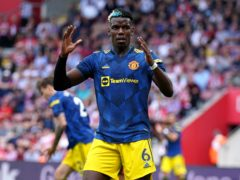 Paul Pogba was left frustrated by a draw at Southampton (Andrew Matthews/PA)
