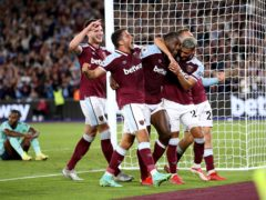 West Ham know their opponents for the Europa League group stage (Steven Paston/PA)