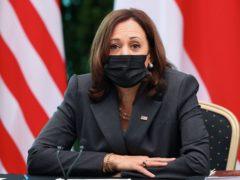 US vice president Kamala Harris (Pool/AP)
