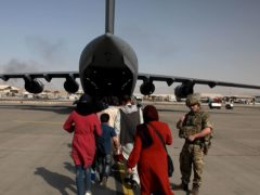 Foreign Secretary Dominic Raab said the UK will use 'every hour' left to evacuate people from Afghanistan (Ministry of Defence/PA)