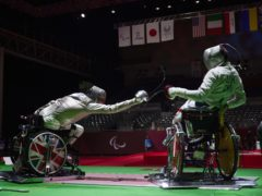 Piers Gilliver, left, won gold in the epee (ParalympicsGB/imagecomms/PA)