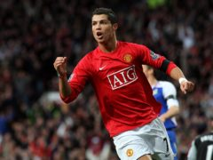 Cristiano Ronaldo enjoyed a prolific spell at Old Trafford before leaving for Spain (Martin Rickett/PA)