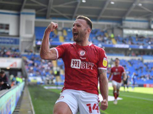 Andreas Weimann celebrates scoring Bristol City's winner at Cardiff (Simon Galloway/PA)