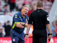 Neil Warnock was not happy with some of the decisions (Richard Sellers/PA)