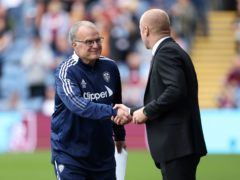 Marcelo Bielsa, left, did not feel Burnley were overly physical against his side at Turf Moor (Richard Sellers/PA)