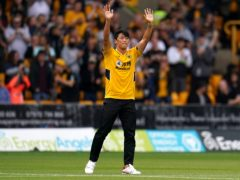Hee Chan Hwang was unveiled to the crowd at Molineux before Wolves' game with Manchester United (Nick Potts/PA)