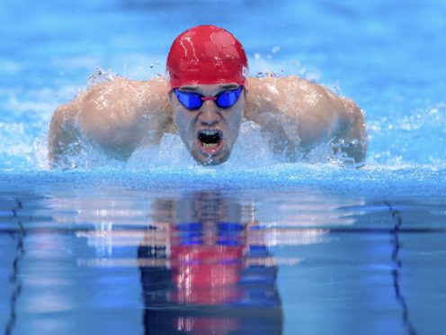 Great Britain's Reece Dunn won his third gold of the Games and broke the world record in the S14 men's 200m individual medley (Joel Marklund/OIS/PA).