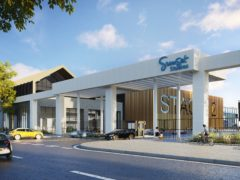 An artist's impression of the proposed Sunset Studios site planned in Hertfordshire (Blackstone/PA)