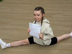 Emily Petty has thanked her school after getting the grades necessary to study dance
