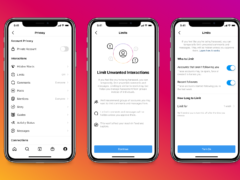 Instagram's new Limits tool, which allows people to filter out comments and DM requests from those who don't follow or have only recently started following them (Instagram)