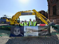 Everton have formally broken ground on their new stadium at Bramley-Moore Dock (Everton FC/PA)