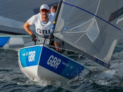 Great Britain's Giles Scott won gold in the men's Finn in a dramatic final day of the event in Tokyo (Bernat Armangue/AP)