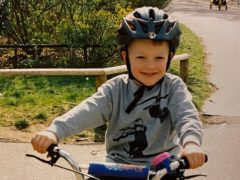 A six-year-old Ethan Hayter long before he took up racing (Hayter family/PA)