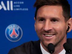 Lionel Messi is raring to go in Paris (Francois Mori/AP)