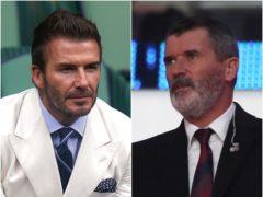 David Beckham and Roy Keane (PA)