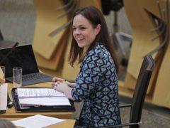 Finance Secretary Kate Forbes hailed the improved economic forecast as 'tremendously good news' (Fraser Bremner/Scottish Daily Mail/PA)