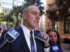 Brian Houston, founder of the Sydney-based global Hillsong Church (Mick Tsikas/AAP Image via AP)