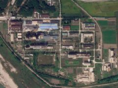 In this Saturday, Sept. 18, 2021 satellite photo from Planet Labs Inc., a uranium enrichment plant is seen at North Korea's main Yongbyon nuclear complex. Recent satellite images show North Korea is expanding a uranium enrichment plant at its main Yongbyon nuclear complex, a sign that its intent on boosting the production of bomb materials, experts say. The assessment comes after North Korea recently raised tensions with its first missile tests in six months amid long-dormant nuclear disarmament negotiations with the United States. (Planet Labs Inc. via AP)