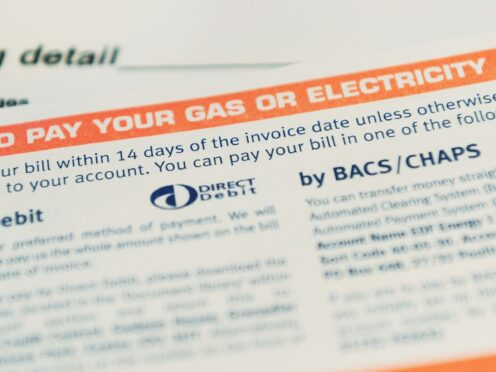 A general view of a utility bill (PA)