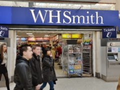 WH Smith revealed that sales over the past six months were 65% of pre-pandemic levels (John Stillwell/PA)