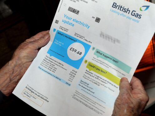 Rising energy prices are likely to put pressure on the budgets of low-income families, according to a think tank (Peter Byrne/PA)