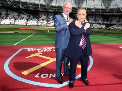 David Sullivan, right, and David Gold took over West Ham in 2010 (Nick Potts/PA)
