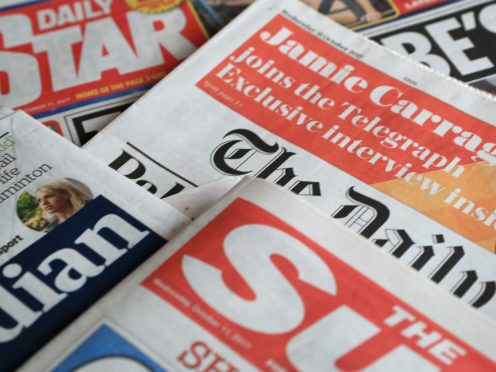 What the papers say – September 19 (Peter Byrne/PA)