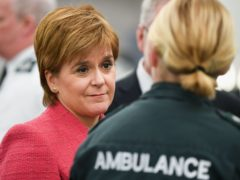 Nicola Sturgeon was asked about the deteriorating wait times for ambulances (Jeff J Mitchell/PA)