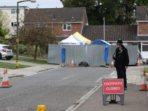 The home of former Russian spy Sergei Skripal on Christie Miller Road in Salisbury, Wiltshire (Jonathan Brady/PA)