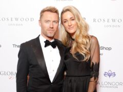 Ronan Keating and his wife Storm (David Parry/PA)