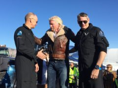 Virgin Galactic said the flight's 'trajectory deviated from our initial plan' due to high altitude wind changes (Josh Payne/PA)