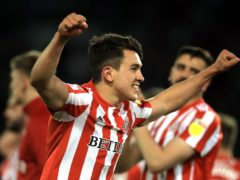 Sunderland's Luke O'Nien got the second goal in the win at Wigan (PA)