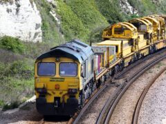 The rail industry is claiming a surge in the movement of goods by train shows it can help ensure supermarket shelves remain stocked during the lorry driver shortage (Gareth Fuller/PA)