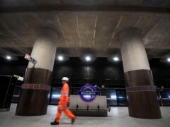 One of the platforms for the new Elizabeth Line at Woolwich station in east London (PA)