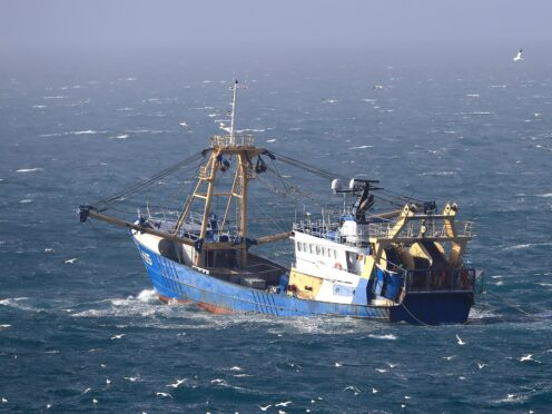 A fishing boat at work in the English Channel (Gareth Fuller/PA)