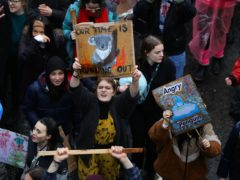Young people take part in a youth strike for climate in Bristol (Aaron Chown/PA)