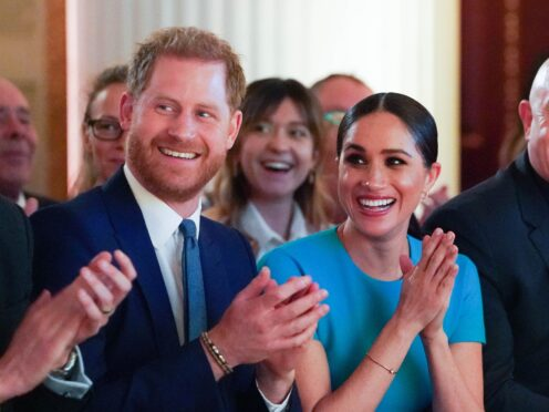 The Duke and Duchess of Sussex spoke about vaccine equity (Paul Edwards/The Sun/PA)