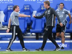 Graham Potter (right) pits his Brighton side against Brendan Rodgers' (left) Leicester on Sunday (Michael Regan/NMC Pool/PA).