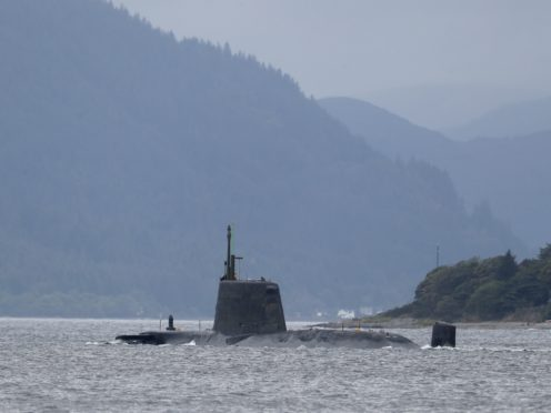 A Royal Navy Astute-class nuclear-powered attack submarine (Andrew Milligan/PA)
