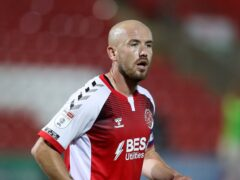 Paddy Madden opened his account for the season with the equaliser against Wrexham (Martin Rickett/PA)