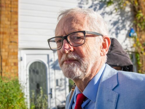 Former Labour leader Jeremy Corbyn. (Aaron Chown/PA)