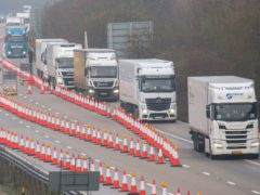 Supply chains have been in part hit by a shortage of lorry drivers (Steve Parsons/PA)