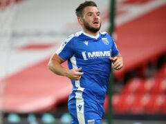 Alex MacDonald netted the equaliser for Gillingham (Nigel French/PA)
